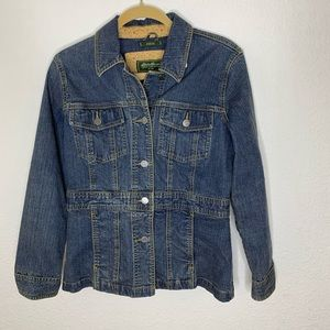 Eddie Bauer Stretch Denim Jacket Size small Petite
